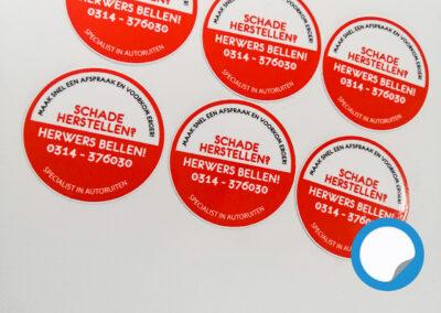 Stickers door Signaal Reclame